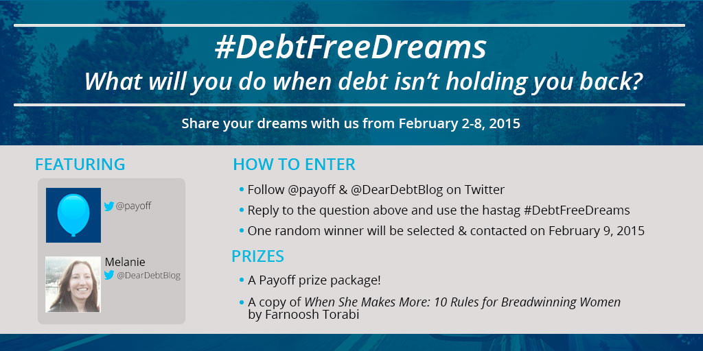 Twitter-#DebtFreeDreams Contest